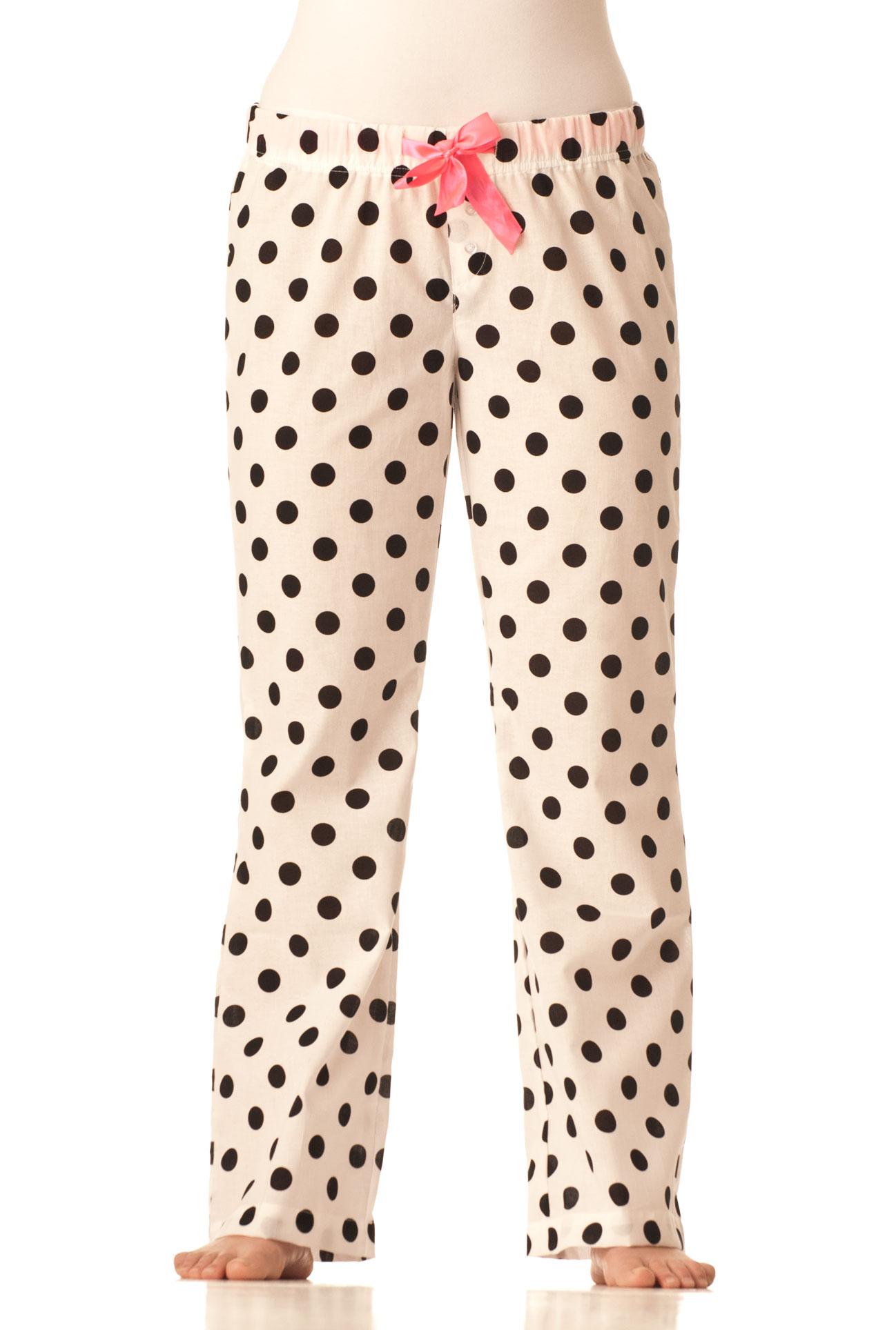 Pyžamové kalhoty - Černobílý puntik